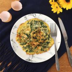 野菜肉末煎蛋