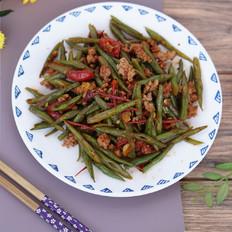 番茄肉末炒四季豆