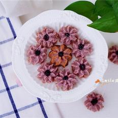 紫色花朵曲奇