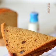 柔软的红糖一键式面包