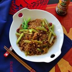 肉末粉丝炒芹菜