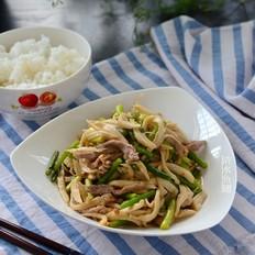 蒜苔炒杏鲍菇