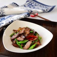烟熏腊肉炒甜豆