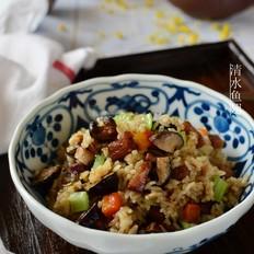 椴木花菇腊肉焖饭