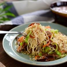 肉丝香菇炒米粉