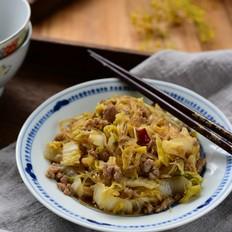 肉末粉丝炒大白菜