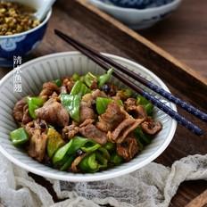 豆豉青椒炒肉片
