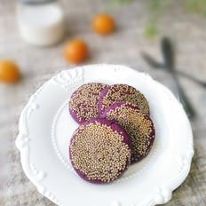 豆沙紫薯糯米餅