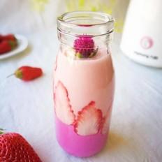 草莓紫薯奶昔