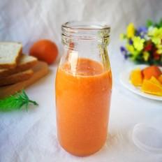 胡萝卜橙子草莓汁