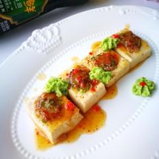 猪肉芦笋酿豆腐