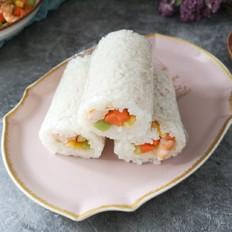 鲜虾时蔬米饭卷
