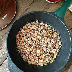 减脂鲜虾藜麦饭的做法