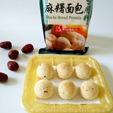 红枣麻糬面包