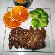 黑椒橙汁小牛排