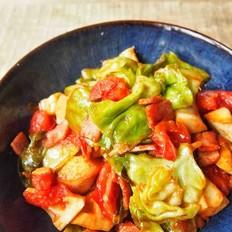 番茄炒包菜(快手菜)