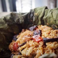 香菇荷叶鸡饭