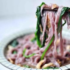 紫薯菠菜面条