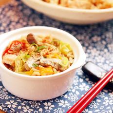 味噌鲑鱼鲜菇炖饭