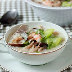 丝瓜燕麦海鲜粥