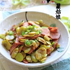 培根炒蚕豆
