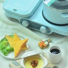 【完美早餐】三明治+水蒸蛋的做法