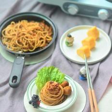 【营养早餐】意面+厚蛋烧的做法