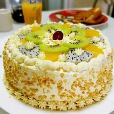 淡奶油生日蛋糕8寸