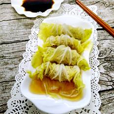 菜叶蒸饺子