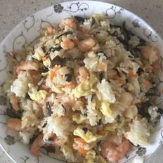 简易版虾仁鸡蛋炒饭