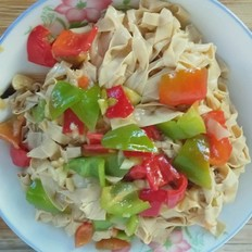 尖椒干豆腐