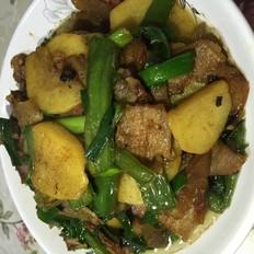 腊肉焖土豆