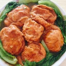 煮面筋青菜