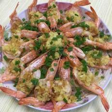 香蒜蒸虾的做法
