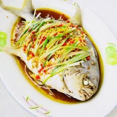 清蒸金鲳鱼