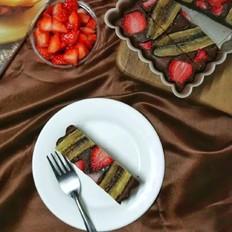 香蕉草莓巧克力蛋糕条