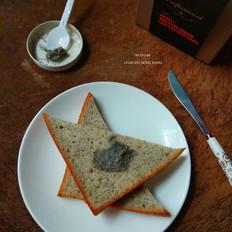 黑芝麻切片海绵蛋糕