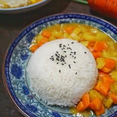 素咖喱拌饭