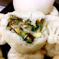 青菜香菇素包子