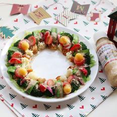圣诞花环-丘比沙拉汁的做法