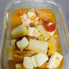 虾仁豆腐娃娃菜汤