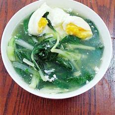 小白菜窝蛋汤