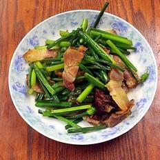 韭菜苔炒腊肉
