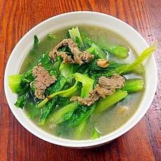 莴笋叶牛肉汤