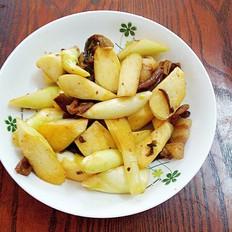 梅菜肉炒茭白
