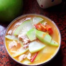 番茄葫芦瓜肉片汤的做法