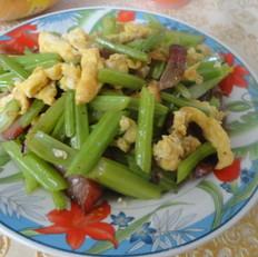 鸡蛋炒芹菜