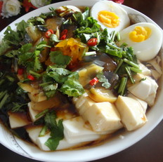 双蛋拌豆腐