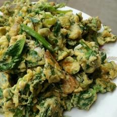 芹菜叶炒鸡蛋