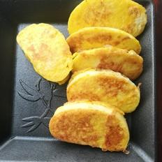 土鸡蛋香煎馒头片